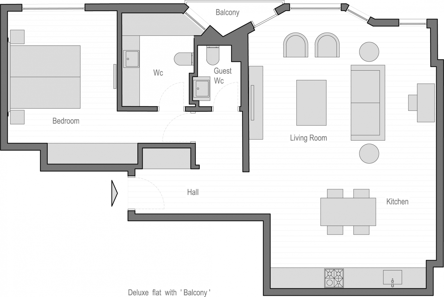 Deluxe Flat with Balcony